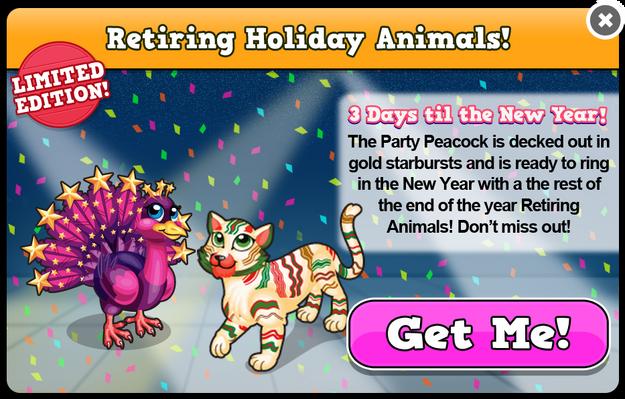 Party retiring modal