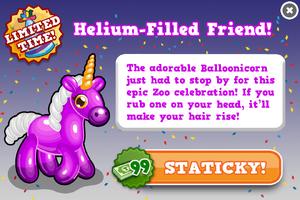 Balloonicorn modal