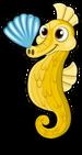 Seashell seahorse single