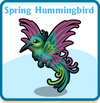 Spring hummingbird card