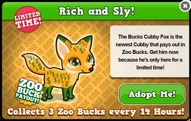 Cubby fox bucks modal