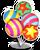 Goal parade balloons icon
