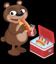 Hungry bear static