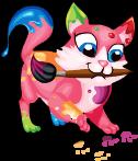 Paint kitten an