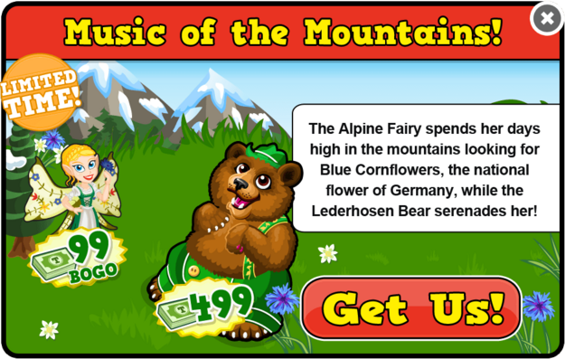 Alpine fairy modal