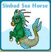 Sinbad sea horse card