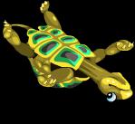 Upside down turtle an