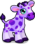 Cubby giraffe violet single