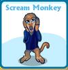 Scream monkey card