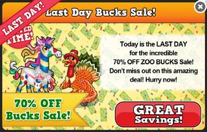 Thanksgiving bucks sale modal