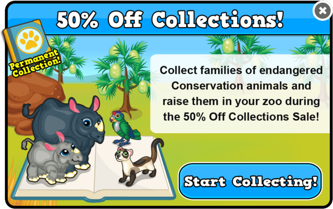 Conservation collection sale modal