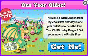 2 year old wish dragon modal