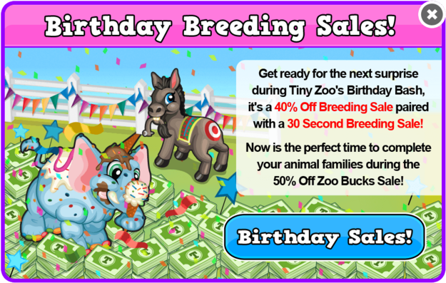 Birthday 2 breeding sale modal