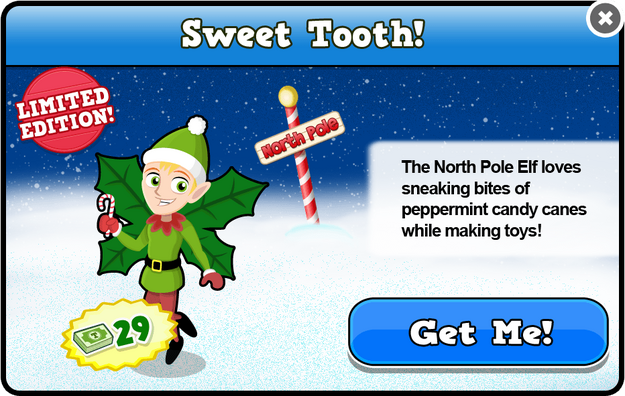 North pole elf modal