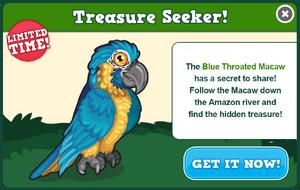 Blue throated macaw modal