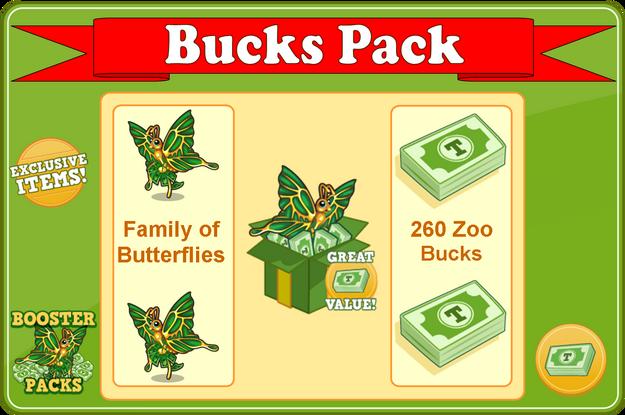 Bucks butterfly booster pack modal