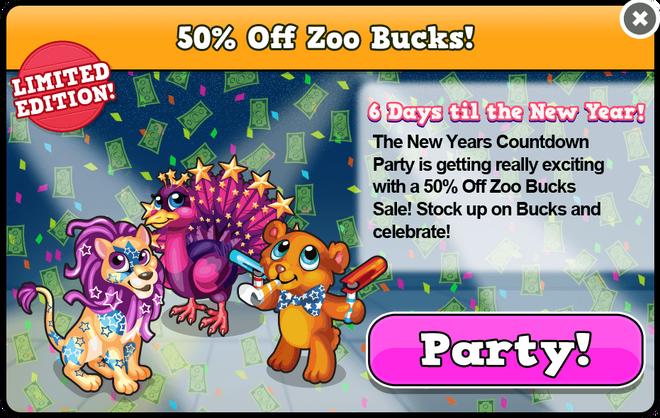 Party bucks sale modal
