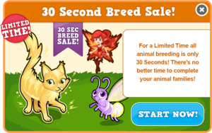 30 second breed sale electric modal