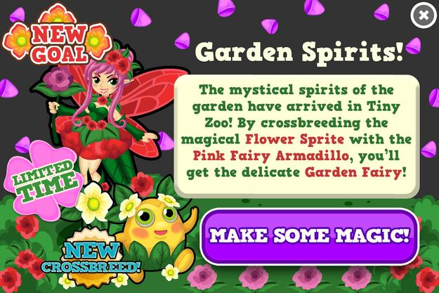 Garden fairy modal