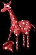 Garnet giraffe static