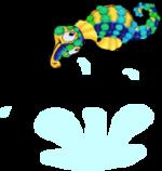 Tourmaline seahorse an