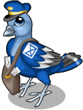 Mail man pigeon static