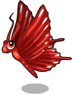 Red butterfly static