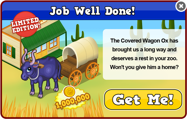 Covered wagon ox modal