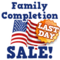 July fourth family completion sale last hud