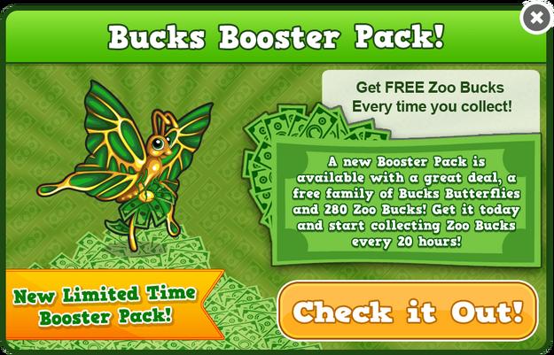 Bucks butterfly modal