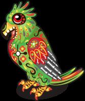 Dia de los muertos parrot single
