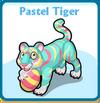 Pastel tiger card