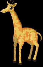 African giraffe static