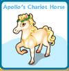 Apollo's chariot horse card