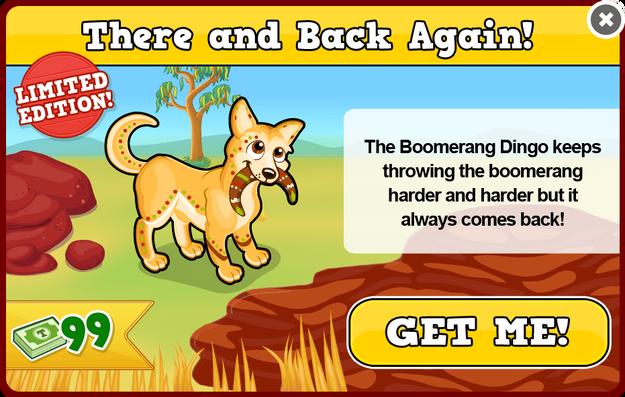 Boomerang dingo modal