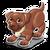 Goal chocolate labrador icon