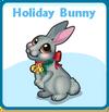 Holiday bunny card