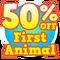 50 off first animal hud