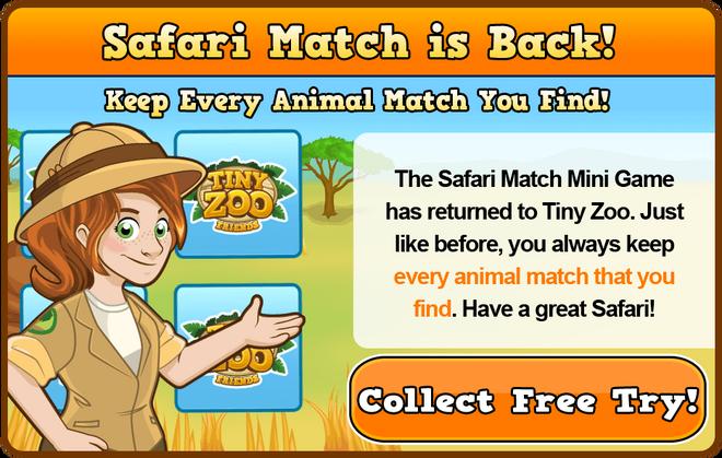 Literature safari match modal