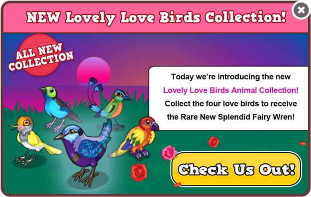 Lovebirds collection modal