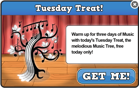 Music tuesday treat modal