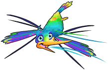 Iridescent hummingbird an