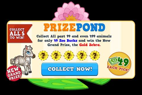 Prize pond november load screen