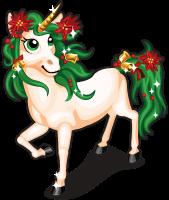 Poinsettia unicorn single