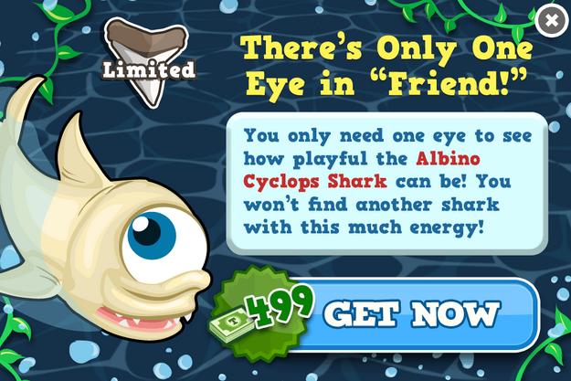 Albino cyclops shark modal