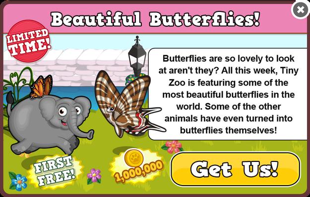 Butterfly elephant modal