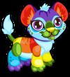 Cubby lion rainbow single