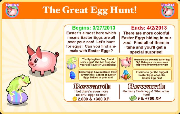 Easter egg pig goal modal