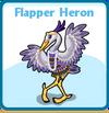 Flapper heron card