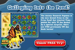 Monarch pegasus prize pond free try modal
